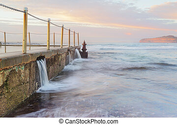 Ocean pool overflows - The Overflow. Ocean water overflows ...