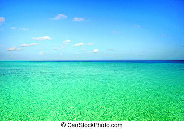 ocean scene  - Picture of ocean scene at Maldives.