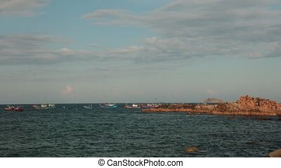 Ocean Scene Time Lapse Vietnam - A time lapse coastline...