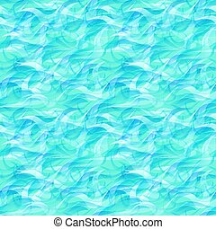 Ocean seamless pattern, vector illustration