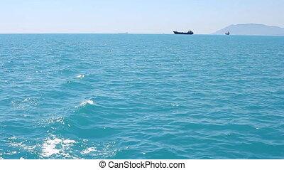 ocean ship cruise - movie capture taken from a ocean ship...