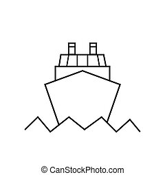 Ocean ship icon in trendy flat style isolated on white background. Website pictogram. Internet symbol for your web site design, logo, app, UI. Vector illustration, EPS 10
