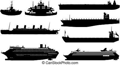ocean ship (vector) - ocean ship made in vector