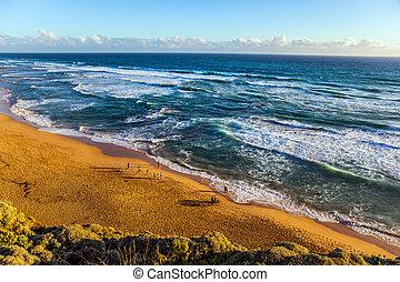 Ocean shore of Australia