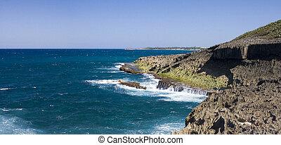 Ocean shore Puerto Rico - Northern ocean shore in Puerto...