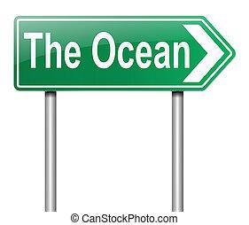 Ocean sign.