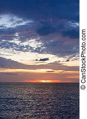 Ocean sky scape sunset