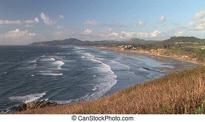 Ocean - Pacific Ocean, town of Newport, Oregon