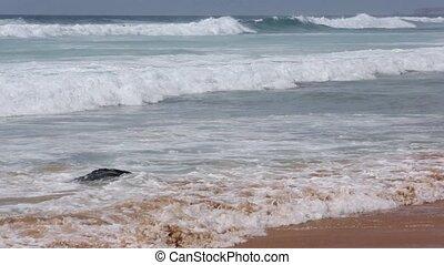 Ocean storm. View from beach.
