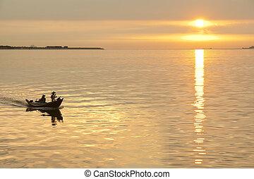 Ocean sunset background image