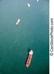 Ocean Tanker Aerial