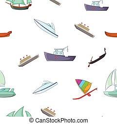 Ocean transport pattern, cartoon style