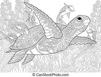Underwater Coloring Pages - GetColoringPages.com | 194x251