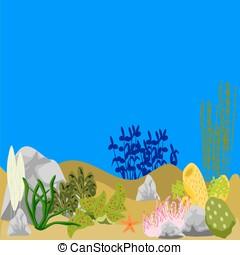 Ocean Underwater Scene