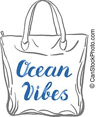 Ocean vibes lettering.