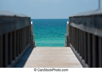 ocean view from a pier