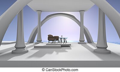 Ocean View Palace - Open view of ocean and chair with...