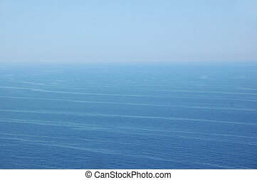 ocean water and sky horizon