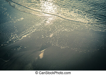 Ocean water background with waves