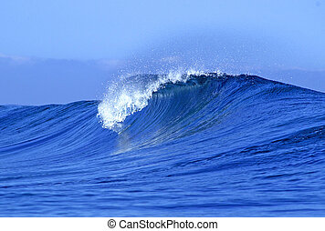 Ocean wave - A view of a scenic blue ocean wave in Fiji