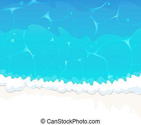 Ocean wave - Blue ocean waves with white foam