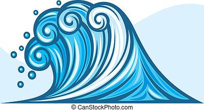 (ocean, wave), mare, onda