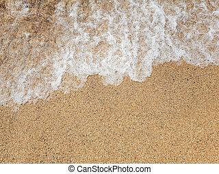 Ocean wave on sandy beach