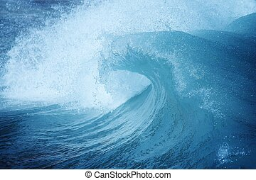 ocean wave spray - blue ocean wave with spray