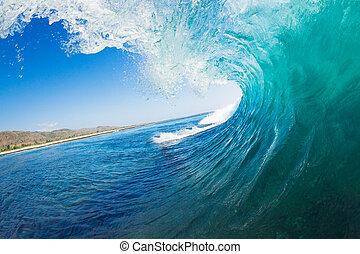 Ocean Wave - Tropical Blue Ocean Wave