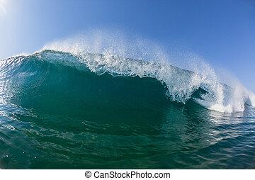 Ocean Wave Water Crashing Nature - Closeup swimming inside ...