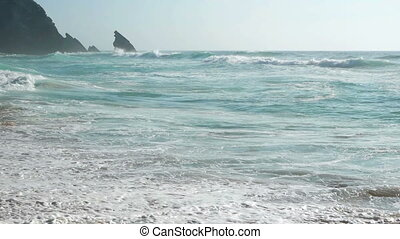 Ocean wave water nature - Atlantic ocean wave water sea