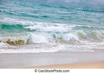 Ocean Waves - Beautiful breaking waves the beach, westcoast...