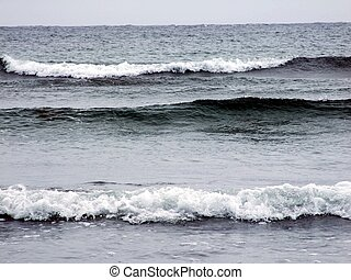 ocean waves Cherry Hill Beach Lunenburg County Nova Scotia...