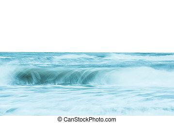 Ocean waves crashing on the shore