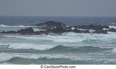 Ocean Waves During Stormy Weather