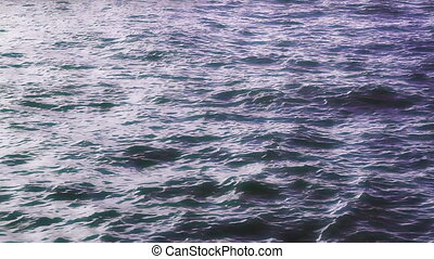 Ocean Waves in Dark Blue