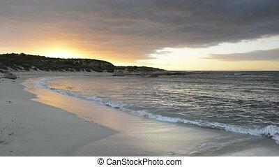 Ocean Waves Lapping Beach