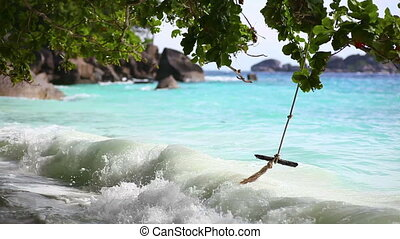Ocean waves. - Ocean surf on the Similan Island, Thailand.