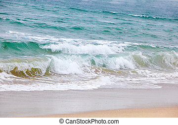 Ocean Waves - Beautiful breaking waves the beach, westcoast...
