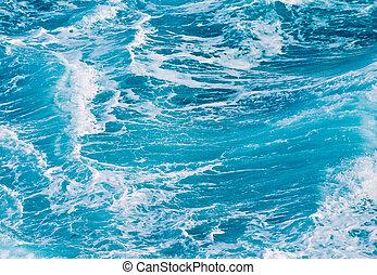 ocean waves - background of ocean waves in the tropical sea