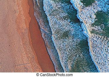 Ocean waves top shot
