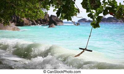 Ocean waves. - Ocean surf on the Similan Island, Thailand.