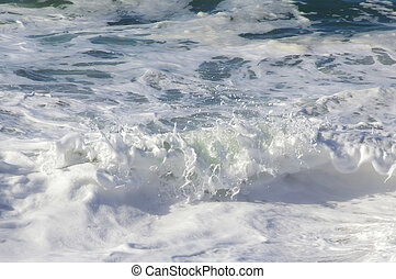 ocean white foam waves background