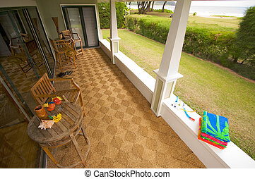 Oceanfront Lanai and View