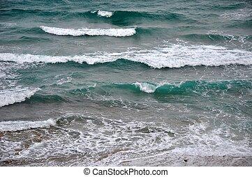 oceano água, ondas