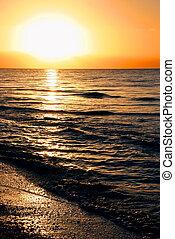 oceano, alba