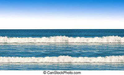oceano azul, ondas