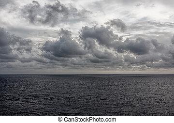 oceano, e, nubi