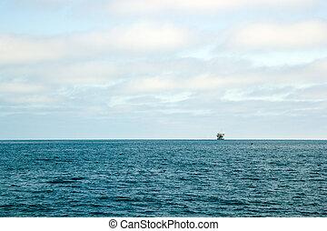 oceano, piattaforma petrolifera