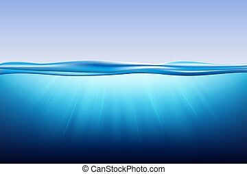 oceano, superficie, acqua
